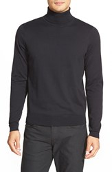 Calibrate Silk Blend Turtleneck Sweater Black Caviar