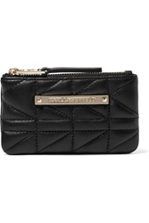 Karl Lagerfeld Quilted Leather Pouch Black