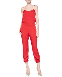 Theory Stassia Cropped Spaghetti Strap Jumpsuit