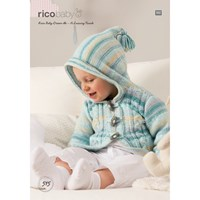 Rico Baby Dream A Luxury Touch Dk Cardigan Knitting Paper Pattern 515
