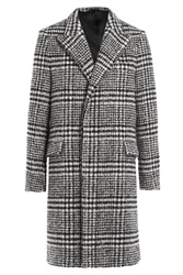 Carven Checked Coat With Virgin Wool Multicolor