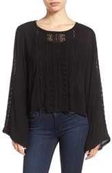 Kut From The Kloth Women's 'Samantha' Bell Sleeve Embroidered Gauze Top