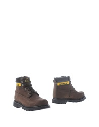 Cat Ankle Boots Dark Brown