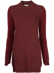 Barrie Side Slit Jumper Red