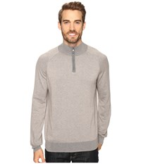 Agave Lundy Long Sleeve Supima Fine Gauge Fungi Men's Long Sleeve Pullover Taupe
