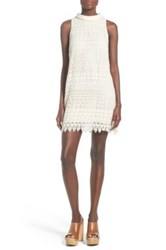 Astr 'Sharona' Crochet Minidress White