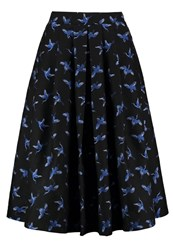 Louche Pasadena Aline Skirt Black Blue