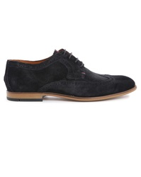 Tommy Hilfiger Navy Suede Floral Colton Derby Shoes