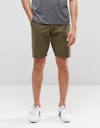 Blend Of America Chino Shorts Straight Fit In Green Dusty Green