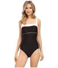 Nautica Signature Classic Soft Cup One Piece Na27556 Black Women's Swimsuits One Piece