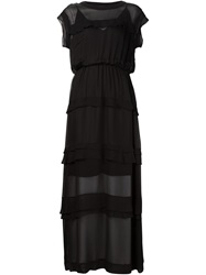 By Malene Birger Layered Sheer Gown Black
