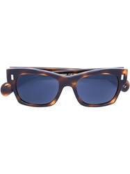 The Row Oval Frame Sunglasses Multicolour