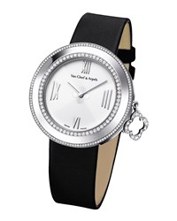 White Gold Charms Watch With Diamonds 38Mm Van Cleef And Arpels White Gold