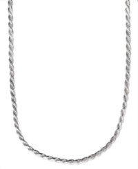 Macy's Men's Sterling Silver Necklace 22' 4 1 2Mm Rope Chain No Color