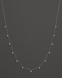 Bloomingdale's Diamond Station Necklace In 14K White Gold .50 Ct. T.W.