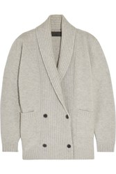 The Elder Statesman Double Breasted Cashmere Blend Cardigan