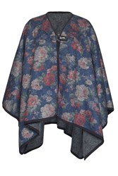 James Lakeland Boiled Wool Floral Cape Grey
