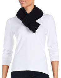Lord And Taylor Cashmere Knit Scarf Black