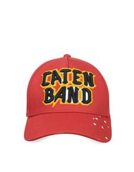 Dsquared Caten Band Red Cotton Baseball Cap