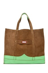 Hunter Original Suede Mustache Weekend Bag Green