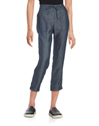 Lord And Taylor Drawstring Pants Dark Rinse Wash