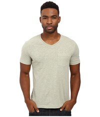 Original Penguin Johnson V Neck Tee Desert Sage Men's T Shirt Gray
