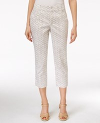 Jm Collection Geo Print Twill Capri Pants Only At Macy's Neutral Diamond