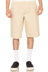 Stussy Pleated Shorts Tan