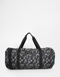 Jack And Jones Jack And Jones Barrel Bag With Leaf Print Black