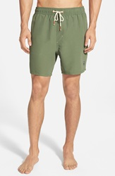 Sperry 'Sailor Solids' Swim Trunks Olive
