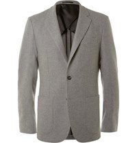 Hardy Amies Grey Slim Fit Cashmere Blazer Gray