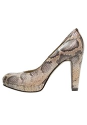 Noe Nabla Platform Heels Nut Light Brown