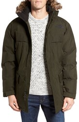 The North Face Men's 'Mcmurdo Parka Ii' Waterproof Goose Down Coat With Faux Fur Trim