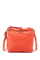 T Shirt And Jeans Small Double Entry Crossbody Pink