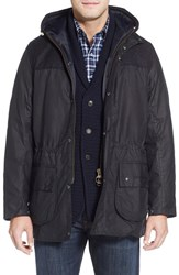 Men's Barbour 'Durham' Waxed Cotton And Tweed Wool Jacket
