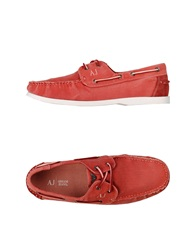 Armani Jeans Moccasins Coral