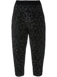 Boboutic Loose Fit Cropped Trousers Black