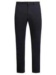 A.P.C. Jude Slim Leg Stretch Cotton Chino Trousers Navy