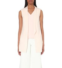 Ted Baker Draped Knitted Waistcoat Baby Pink