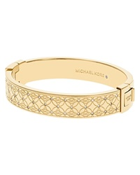 Michael Kors Pave Monogram Hinge Bangle Gold