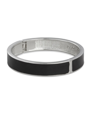 Tokyo Jane Flat Porcelain Bangle Black And Silver