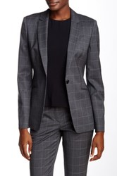 Hugo Boss Jabina Wool Blend Blazer Blue