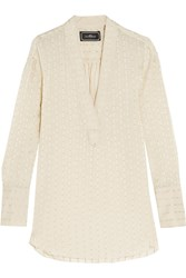 By Malene Birger Laterana Silk Blend Jacquard Shirt White