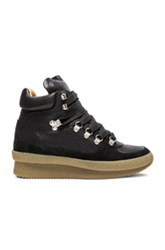 Etoile Isabel Marant Brent Hiking Boots In Black