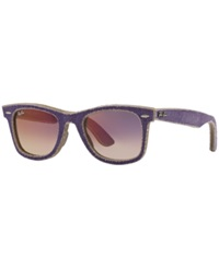 Ray Ban Sunglasses Ray Ban Rb2140 50 Original Wayfarer Purple Purple Grad