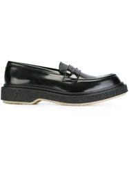 Adieu Paris Chunky Sole Penny Loafers Black