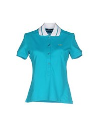 Versace Jeans Couture Topwear Polo Shirts Women Turquoise