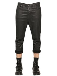 Diesel Black Gold 17Cm Coated Cotton Denim Effect Jeans