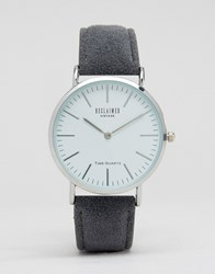 Reclaimed Vintage Wool Strap Watch In Grey Grey