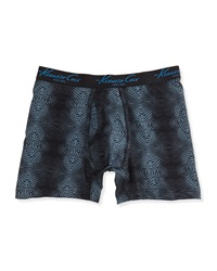 Kenneth Cole Dotted Wave Print Boxer Briefs Optic Black